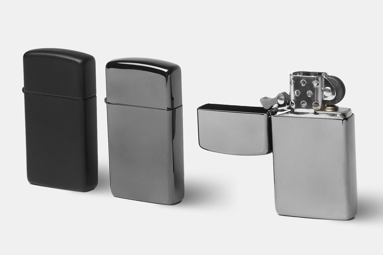 Zippo Lighters: Slim Black Collection