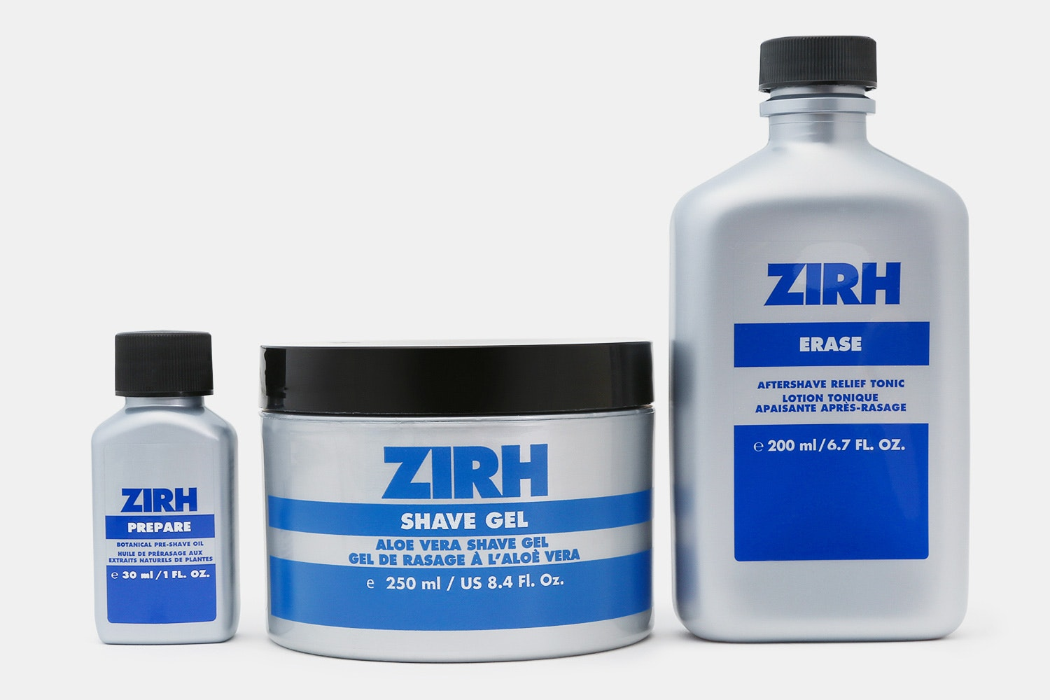 Pre-shave Oil, Shave Gel, Aftershave Relief Tonic