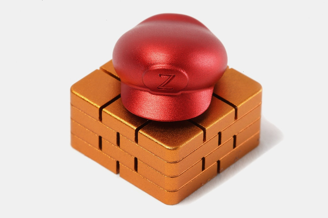ZOMO Aluminum Brick & Spinning Hat Artisan Keycap