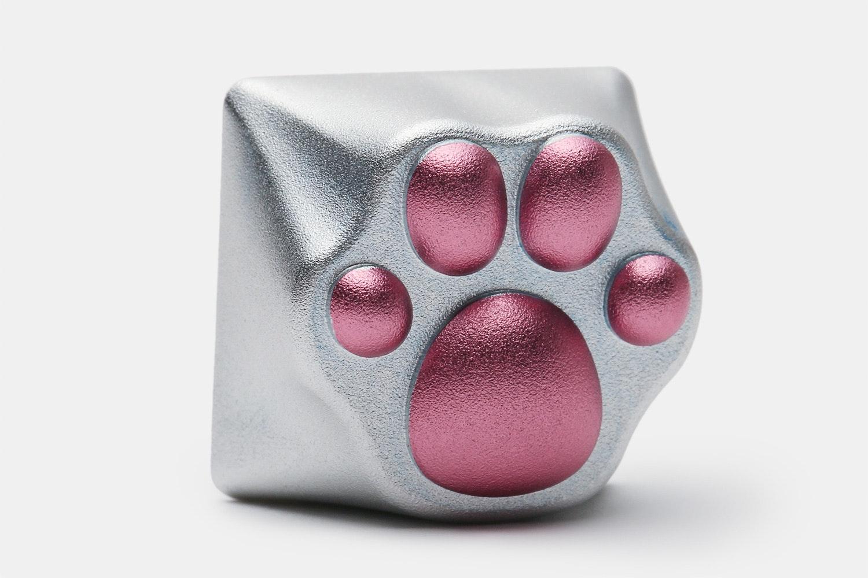 ZOMO Anodized CNC Aluminum Kitty Paw Artisan Keycap